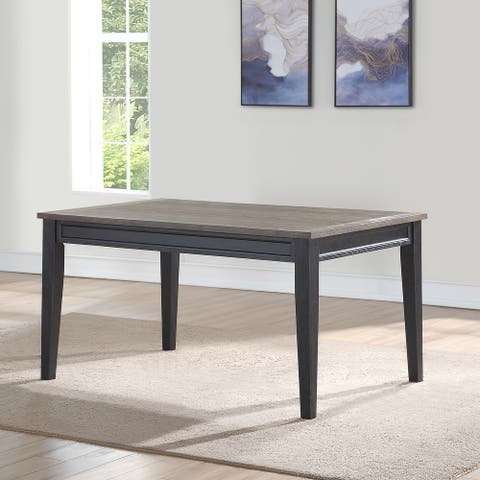 Ralston Two-Tone Ebony and Driftwood Dining Table by Greyson Living