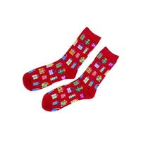 Charter Club Women's Presents Socks (One Size, Red) - Red - os
