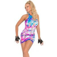 Neon Tie Dye Chemise - Multi - One Size Fits most
