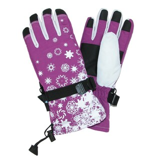 Grand Sierra Girl's 7-16 Snowflake Snowboard Gloves