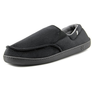 Isotoner Chalg Men Round Toe Synthetic Black Slipper