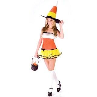 Fun World Candy Corn Treat Adult Costume - Orange/Yellow