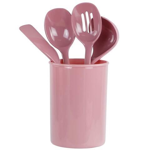 Reston Lloyd 82961 4-Piece Calypso Basics Utensil Holder Set, Pink