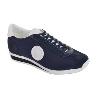 Versus Versace Mens Navy Blue Suede Leather Lion Sneakers