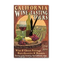 CA - Wine Vintage Sign - LP Artwork (Acrylic Wall Clock) - acrylic wall clock