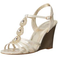 Adrianna Papell Womens Kristen Fabric Round Toe Special Occasion Slingback Sa...