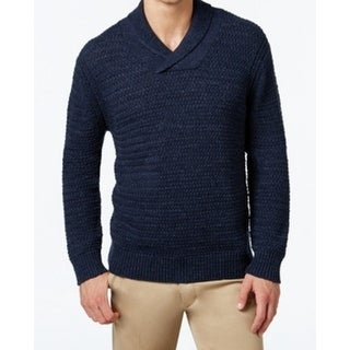 Tommy Bahama NEW Blue Mens Size Large L Knitted Shawl Collar Sweater
