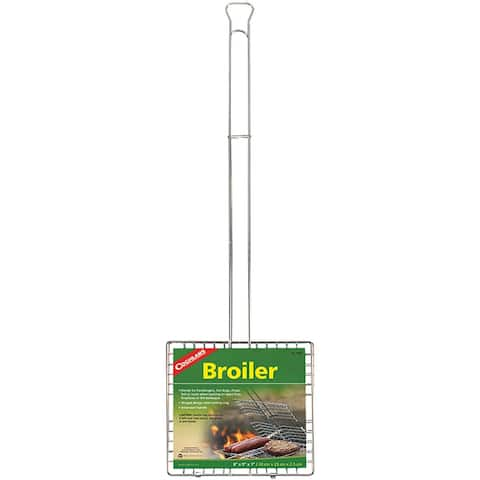 Coghlan's Grill Broiler Basket, Hinged Design & Extension Handle - One Size