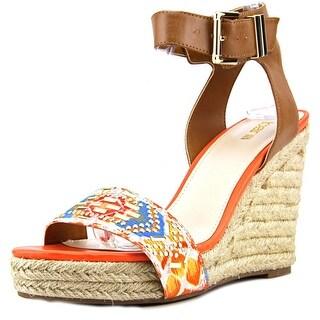 Bar III Athena Open Toe Canvas Wedge Sandal