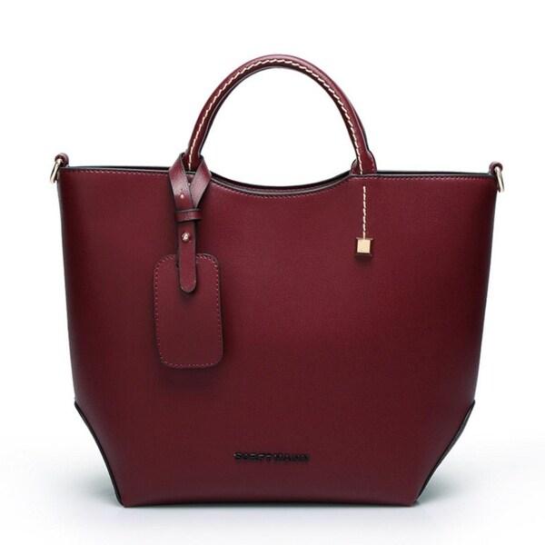 0fc6616e1dec Shop Leather Casual Tote Fashion Women Handbag Soft Leather Shoulder ...