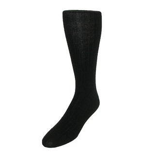 Windsor Collection Men's Merino Wool Over the Calf Dress Socks - One Size
