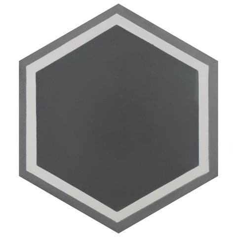 SomerTile 7.875x9-inch Cement Hex Holland Passage Cement Floor and Wall Tile (12 tiles/5.07 sqft.)