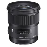 Sigma 24mm f/1.4 DG HSM Art Lens for Canon EF - Black