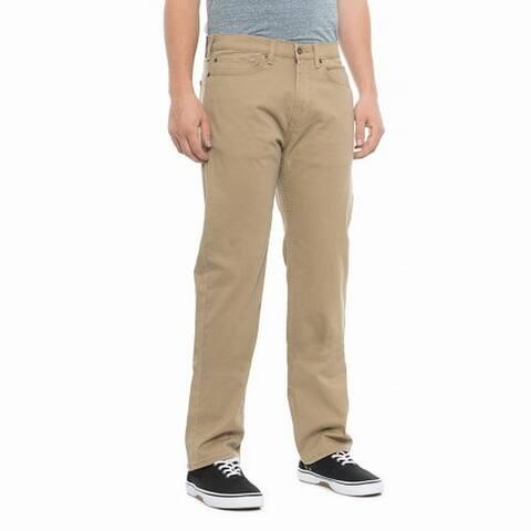 Dockers Mens Beige Size 38X30 Classic Straight Leg Stretch Jeans