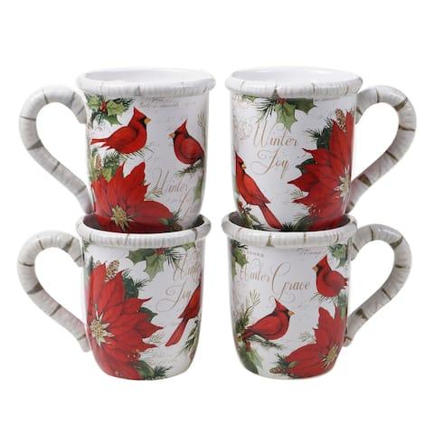 Certified International Winters Garden 16 oz. Mugs (Set of 4)
