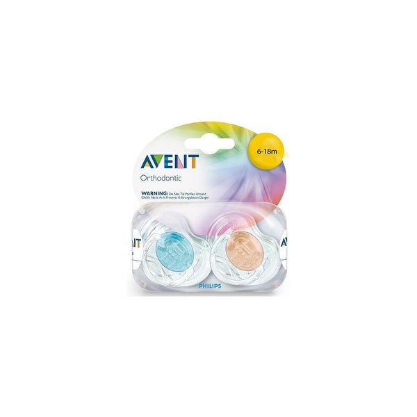 Avent SCF170/22 Translucent Toddler Silicone Pacifiers (6-18 Mo's)