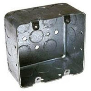 Raco 680 Square Switch Box, Steel, 4""
