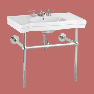 Console Sink Belle Epoque White China Chrome Wall Mount Renovator's Supply