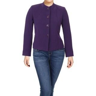 Tahari ASL Womens Four-Button Blazer Suit Separate Office