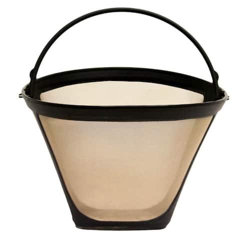 Premium Cuisinart Reusable #4 Cone Filter Replacement, Replaces Cuisinart 8-12 Cup Cone Coffee Filters, BPA Free (1 Pack)