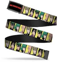 One Punch Man Logo Fcg Black White Red  Chrome One Punch Man 5 Web Belt