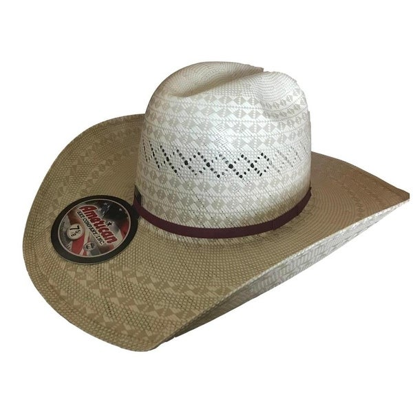 bae7d751fa1 Shop American Cowboy Hat Mens Straw Minnick 7 5 8 Natural - Free Shipping  Today - Overstock - 23023982