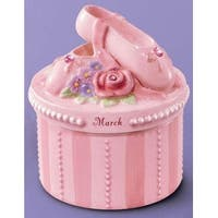A Time to Dance Classics March Ballerina Trinket Box by Russ Berrie