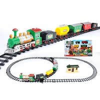 18-Piece Battery Operated Lighted & Animated Classic Model Train Set with Sound