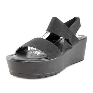 Steve Madden Styyler Open Toe Canvas Platform Sandal