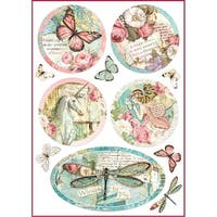 Stamperia Rice Paper Sheet A4-Wonderland Fantasy Decorations