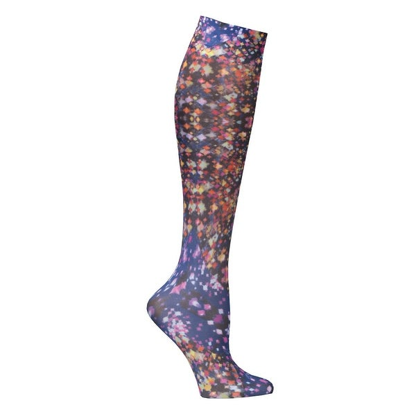Printed Moderate Compression Knee Highs - Multi Prismatic