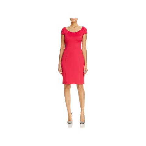 T Tahari Womens Pepita Wear to Work Dress Short Sleeve Business