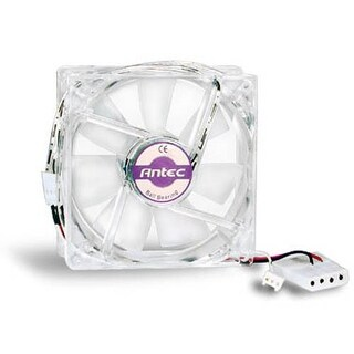 Antec Clear Double Ball Bearing PC Computer Case Fan (PRO 80MM DBB) 3 pin power