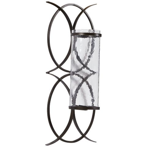 "Bryndis Contemporary Black Wall Sconce - 10""W x 6""D x 23""H"