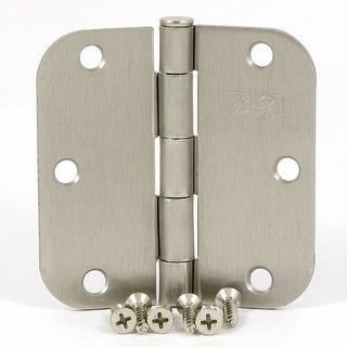 Stone Mill Hardware - 3.5-inch Satin Nickel Door Hinges (Pack of 2)