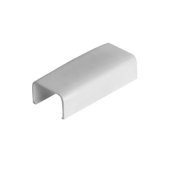 "Wire Trak Joint Cover for Raceway PVC White, 3/4"" W x 1/2"" H"