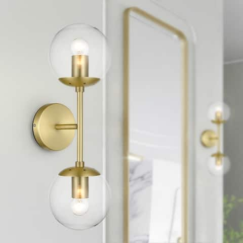 Light Society Tesler Globe 2-Light Wall Sconce
