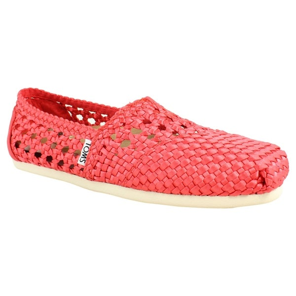 5e53fc57875 Shop TOMS Womens Red Loafer Flats Size 6.5 New - On Sale - Free ...