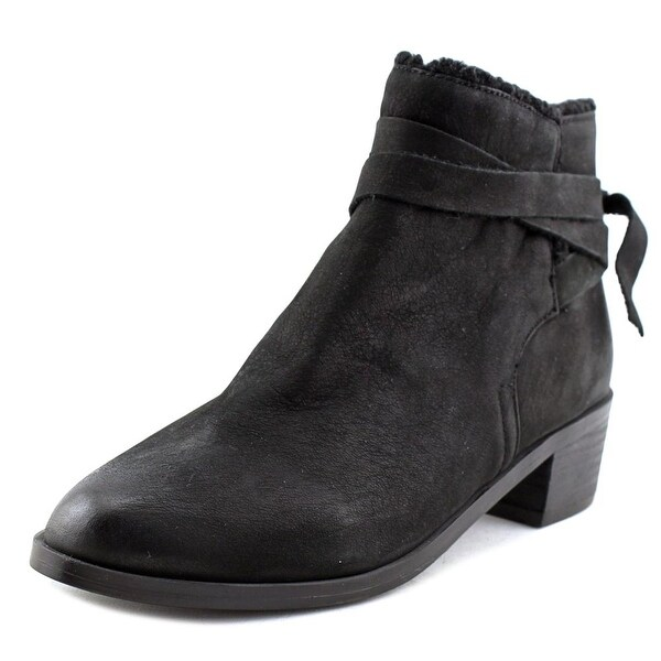 Aldo Mykala Round Toe Leather Ankle Boot