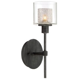 """Designers Fountain 89101 Cazadero Single Light 13"""" Tall Wall Sconces with Water Glass Shade"""