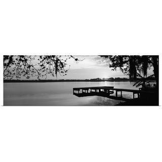 Poster Print entitled Florida, Orlando, Koa Campground, Lake Whippoorwill, Sunrise - Multi-color