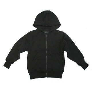 Boys Black Lightweight Pockets Fleece Zipper Hoodie Jacket 8-16