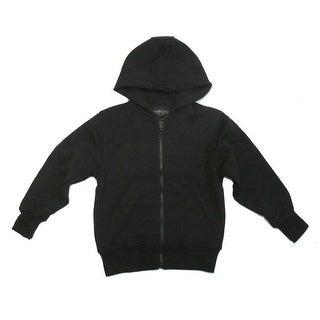 Boys Black Lightweight Pockets Fleece Zipper Hoodie Jacket 8-16 (2 options available)