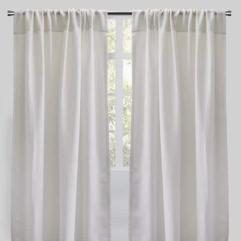 "Rodeo Home Ziana Linen Look Metallic Sheer Curtains (Set of 2) - 54"" x 96"""