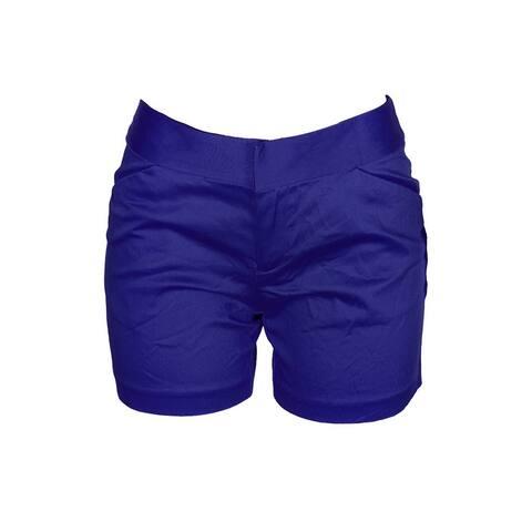 Inc International Concepts Goddess Blue Cotton-Blend Shorts 0