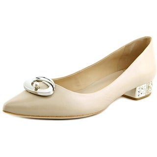 Carolinna Espinosa Carnation Women Pointed Toe Leather Flats