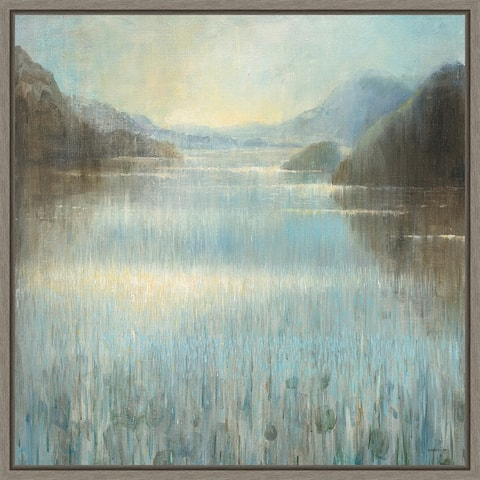Through the Mist Square by Danhui Nai Framed Canvas Art