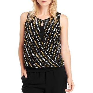 Kenneth Cole New York Womens Holly Ann Blouse Polyester Printed - l