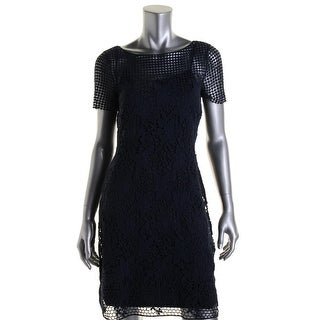 Lauren Ralph Lauren Womens Casual Dress Lace Boatneck