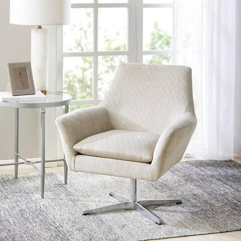 Madison Park Carwyn Light Taupe Swivel Chair